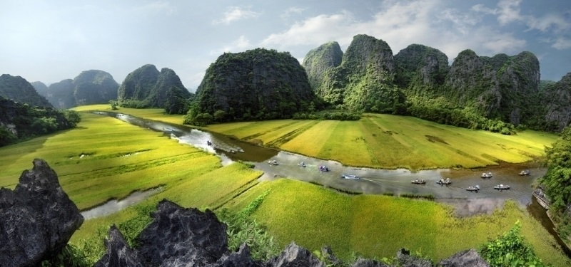 Voyaage au Nord Vietnam Tamcoc