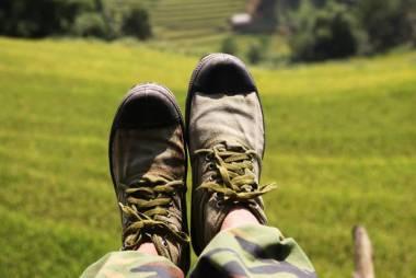 paire de chaussure militaire