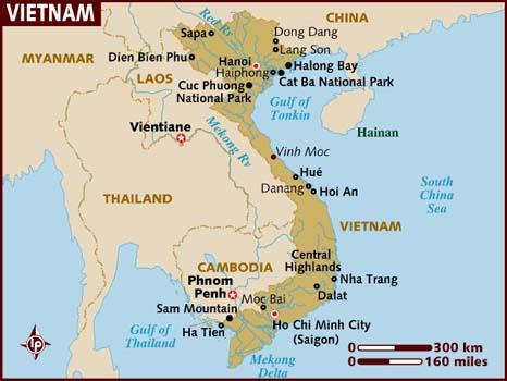 Cartes du Vietnam