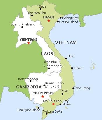 Les passages à la frontière du Vietnam