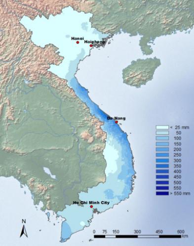 Pluie Vietnam  Decembre