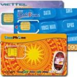 Carte sim pour les portables au Vietnam