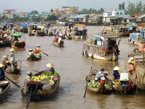 Marché flottant Cai Rang, Can Tho au delta du Mékong