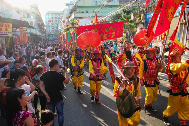 Nouvel An chinois Quartier Cholon Saigon