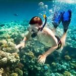 Plongeur dans la mer de Cu Lao Cham