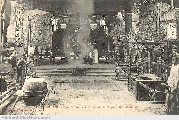 Cholon interieur dela pagode voyage vietnam for Vol interieur vietnam