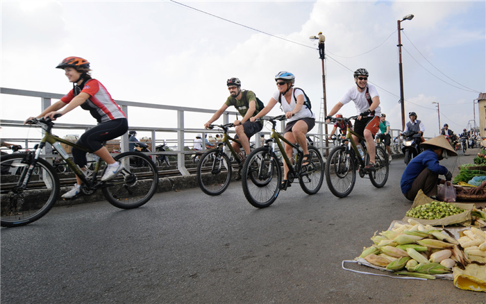 Coup de cœur du fleuve Rouge, Hanoi et sa campagne à vélo 1 jour