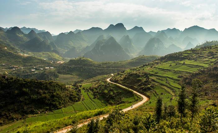 Paysages de Ha Giang en velo