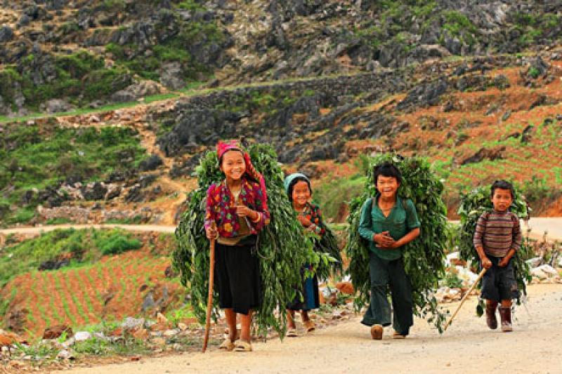 Rencontre des enfants de Ha Giang