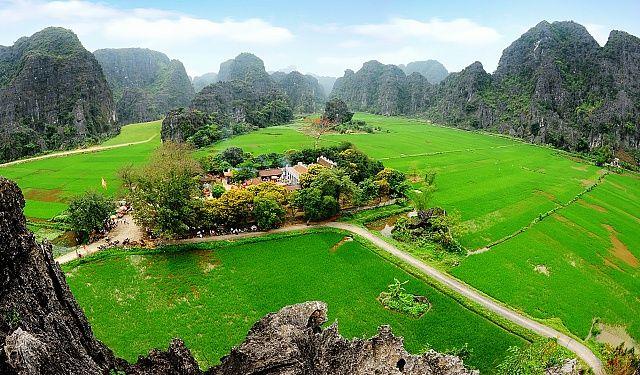 Bons plans pour visiter Ninh Binh, Tam Coc, région de la Baie d'Halong Terrestre à vélo en une journée