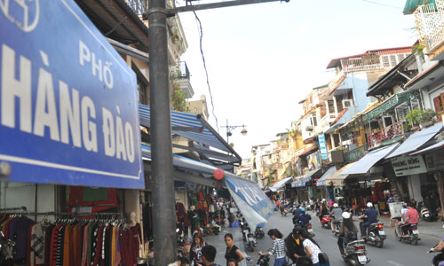 Signification des noms de rues dans la vieille ville Hanoi