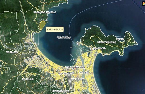 Carte de Da Nang