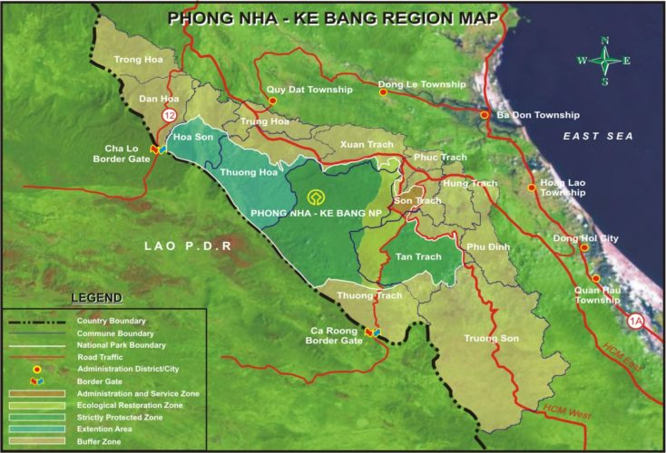 Carte de Phong nha
