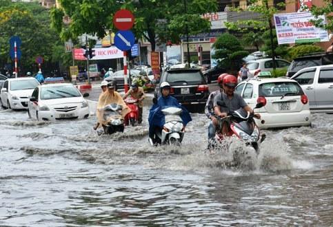 saison des pluies à Hanoi au Vietnam