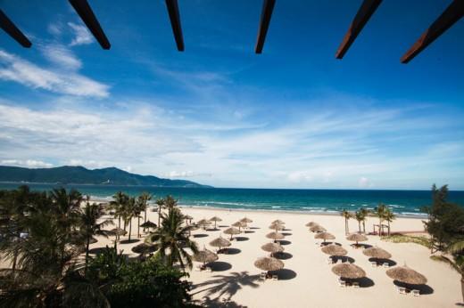 Plage My Khe , une des premières plages du Vietnam