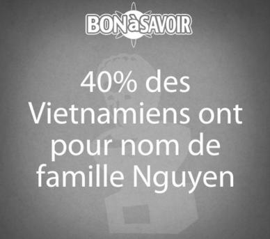 Noms de famille les plus importants au Vietnam
