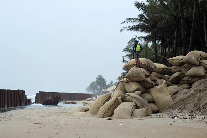 érosion de la mer sur la plage de Cua Dai, Hoi An