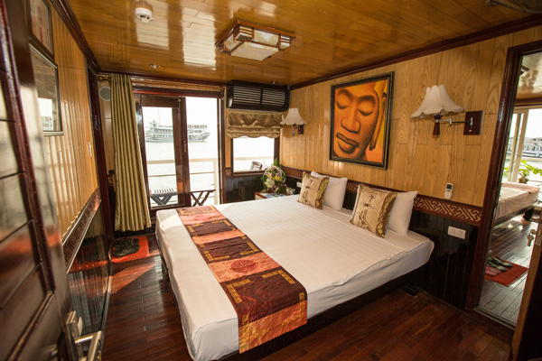 jonque annam 3 toiles croisi re pas ch re en baie d 39 halong voyage vietnam. Black Bedroom Furniture Sets. Home Design Ideas