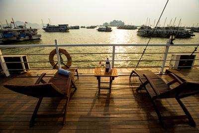 Jonque privée en baie d'Halong An Nam 9 cabines, prix 530 USD