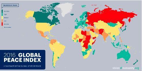 Indice globale de la paix 2016