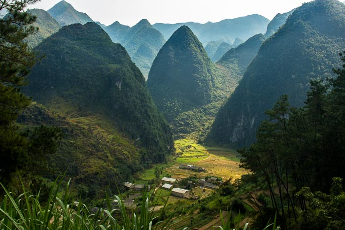 Paysage sur la boucle de Ha Giang, Nord-Vietnam.
