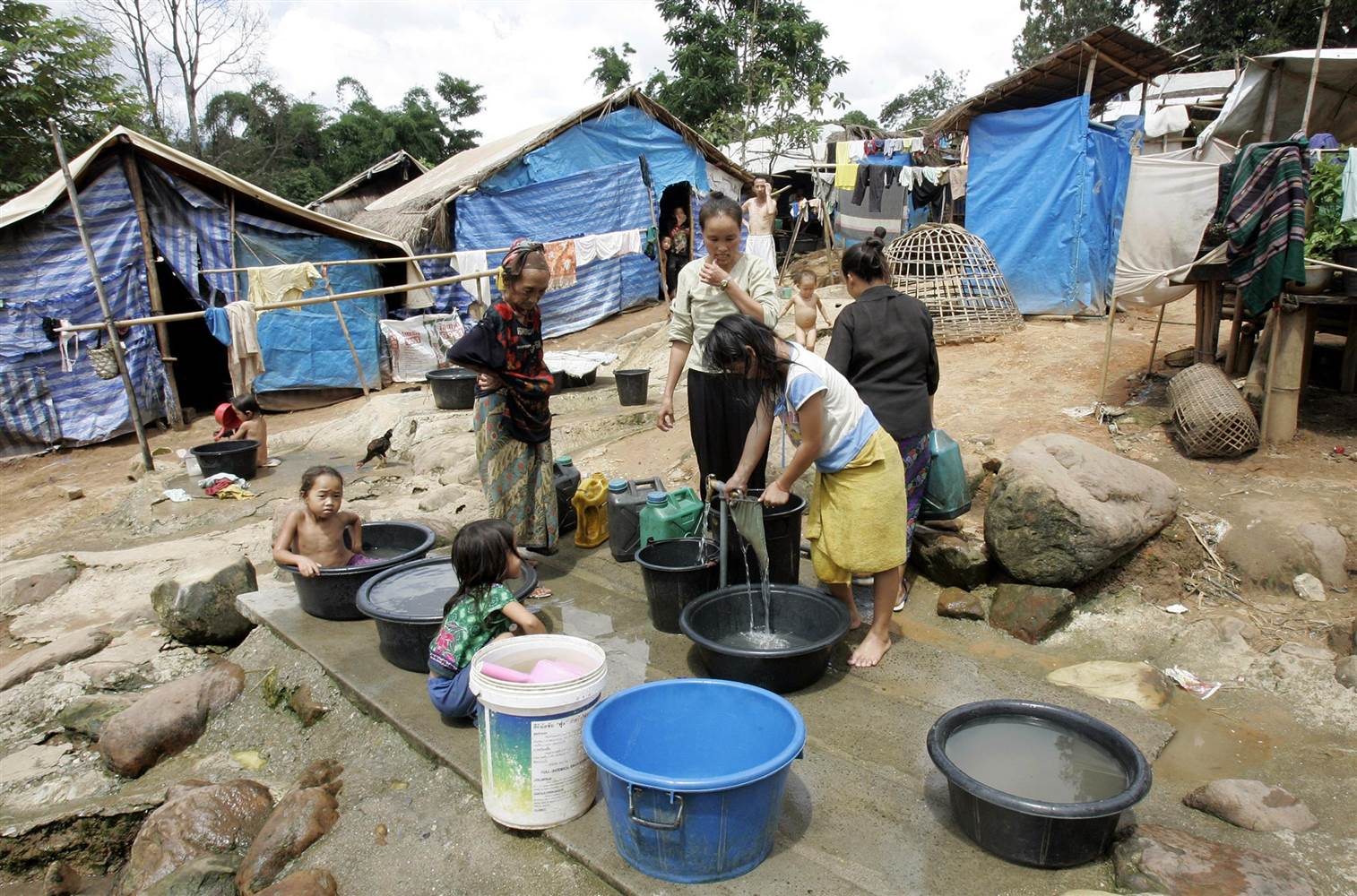 Camps refugies Hong En Thaildande
