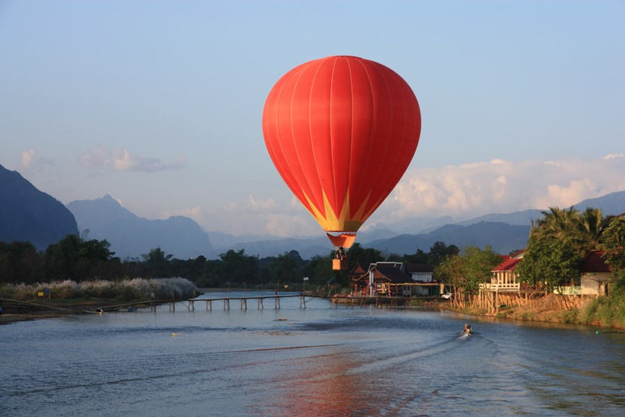 Ballon a air Vang Vieng