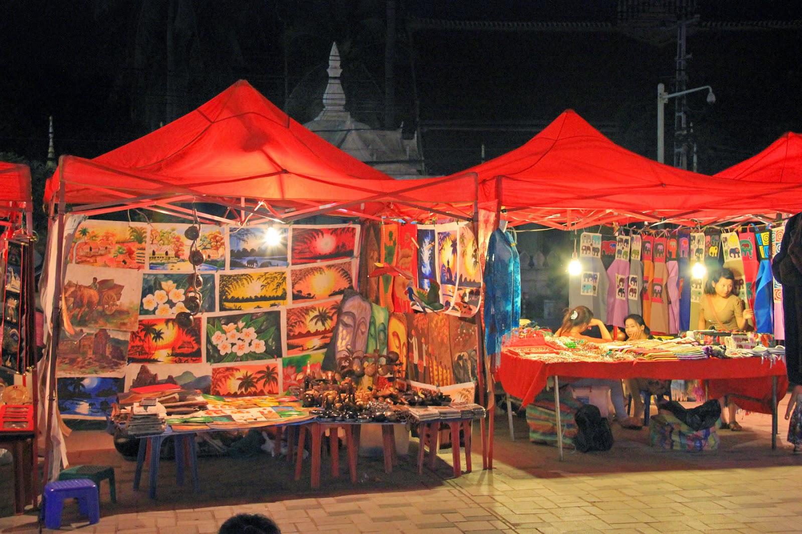 Capitale Vientiane - Marché de nuit Vientiane