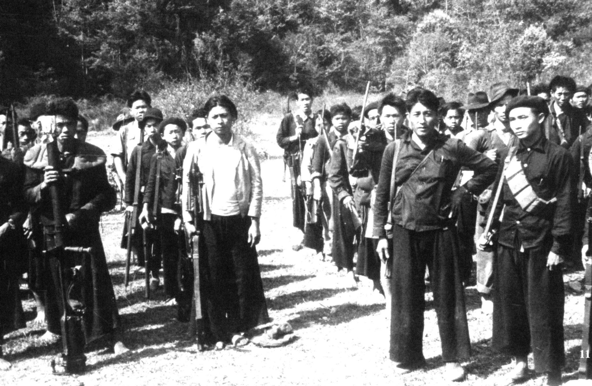 Troupes de guérilla Anti-communistes Hmong en 1961.