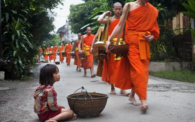 Activités à Luang Prabang: Tak Bat à Luang Prabang