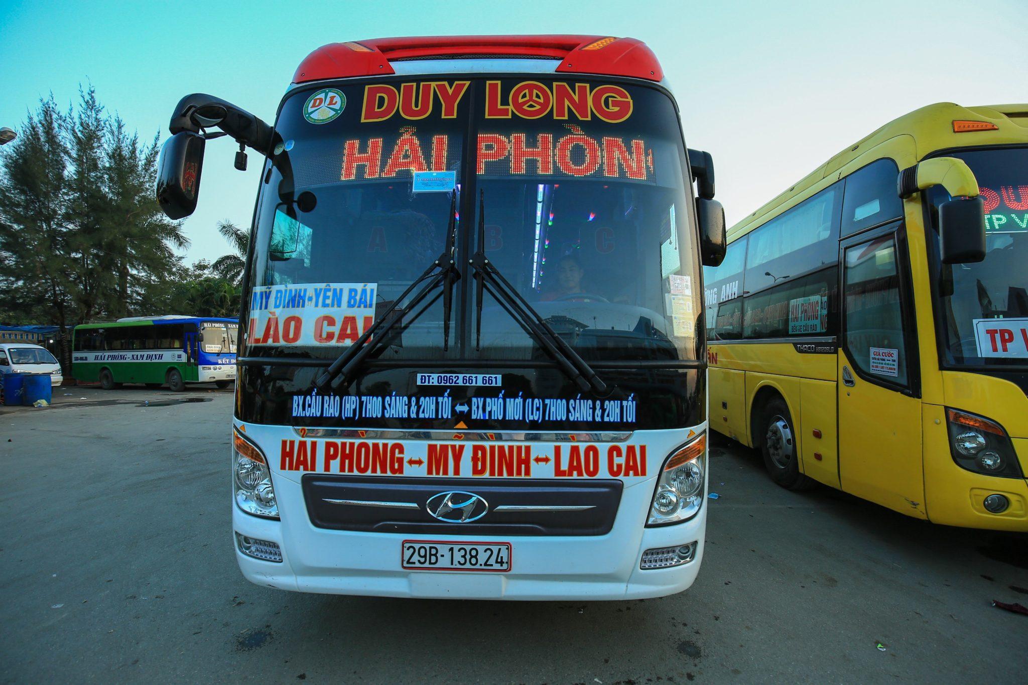 Bus CÁT BÀ HẢI PHÒNG HÀ NỘI LÀO CAI SAPA