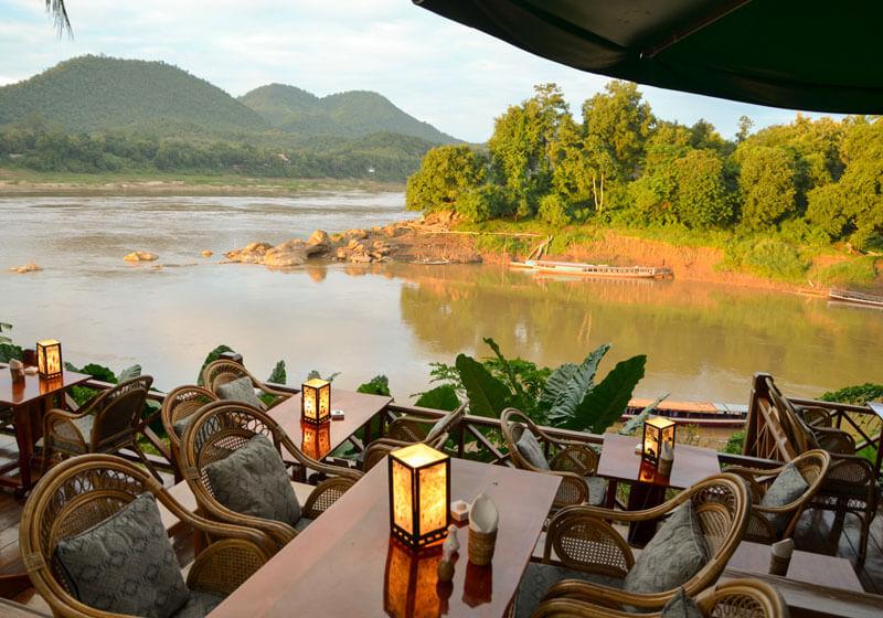 Les choses à faire à Luang Prabang: vue du Mékong de Mekong Riverview