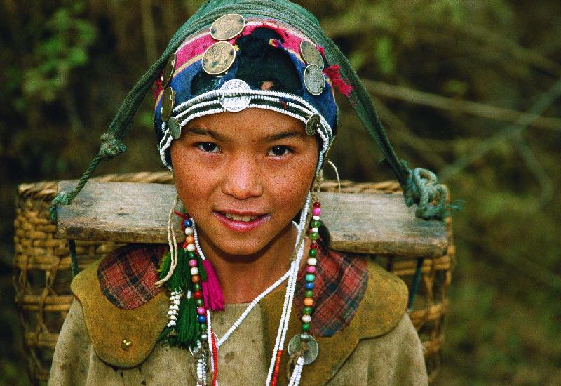 Une fille AKha Muong Sinh Laos