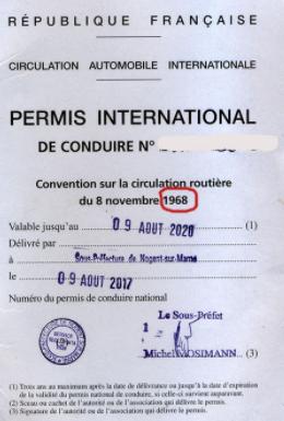 Permis conduire internationalPermis conduire international