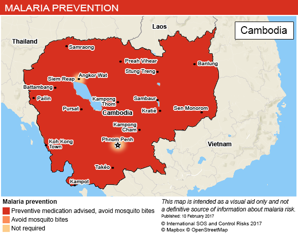 Vaccinations conseillées pour le Cambodge