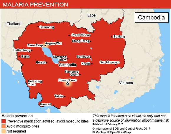 Voyage Cambodge: Paludisme et dengue