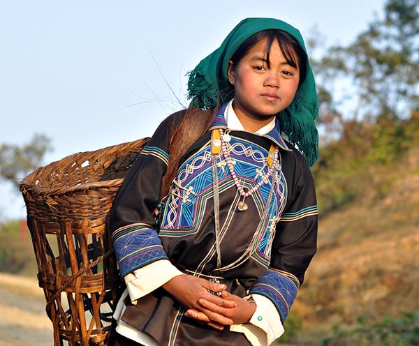 Habit des femmes Ha Nhi , province Lao Cai, Nord Vietnam