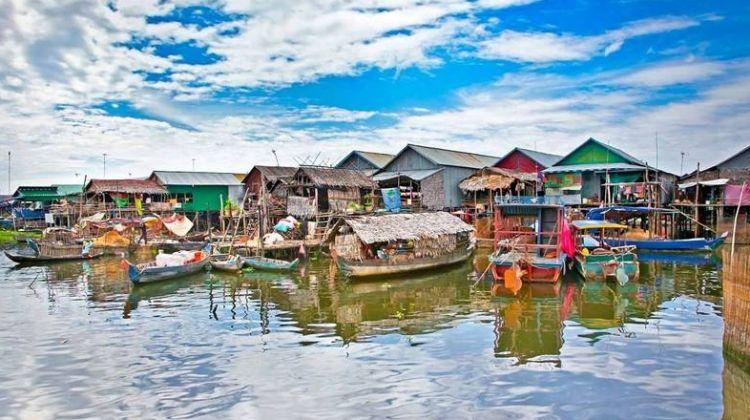 Les villages flottants du lac Tonle Sap