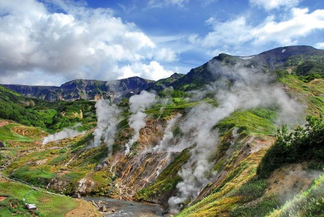 Vallée des Geysers en Russie