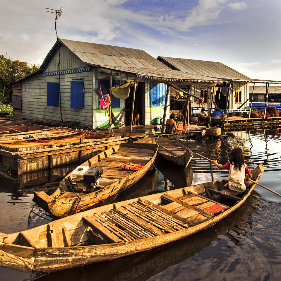Village flottant de Mechrey Siem Reap