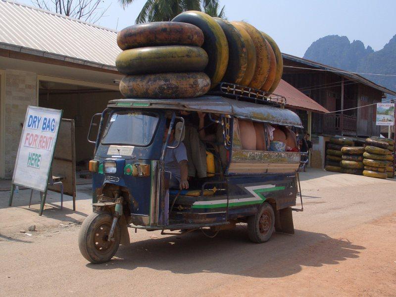 Tubing à Vang Vieng, Laos