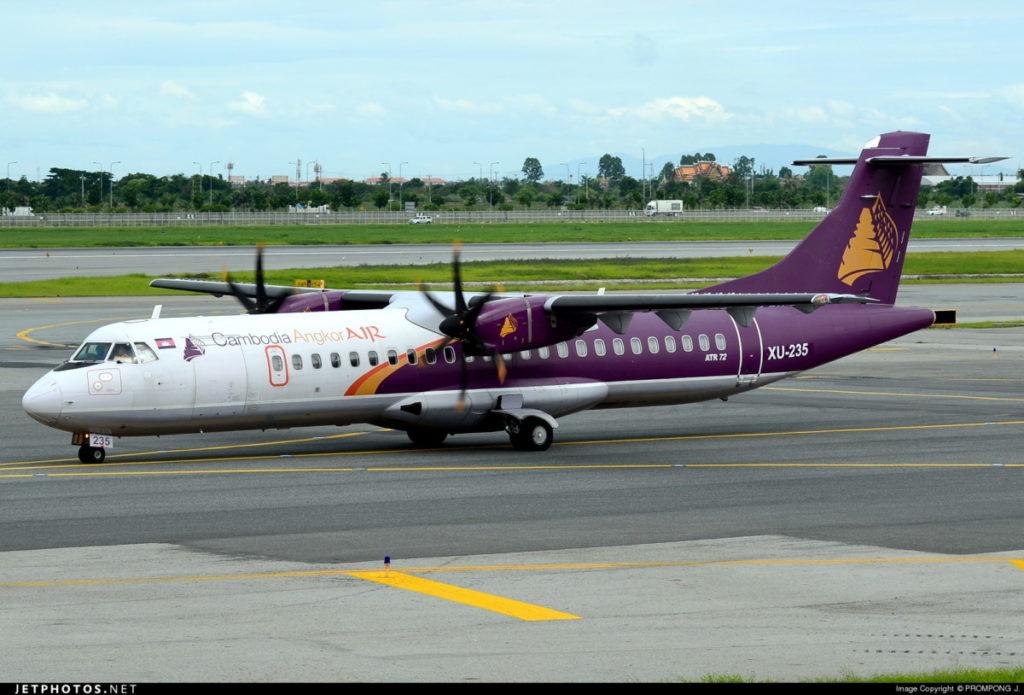 Cambodia Angkor Air propose des ATR72 pour le voyage d'une heure entre Sihanoukville et Siem Reap.