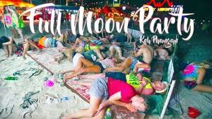 Full Moon Party  ( fête de la pleine lune ) à Koh Phangan 2018 / Full Moon Party en Thaïlande
