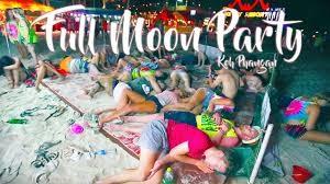 Full Moon Party  ( fête de la pleine lune ) à Koh Phangan 2018 / Full Moon Party en Thaïlande