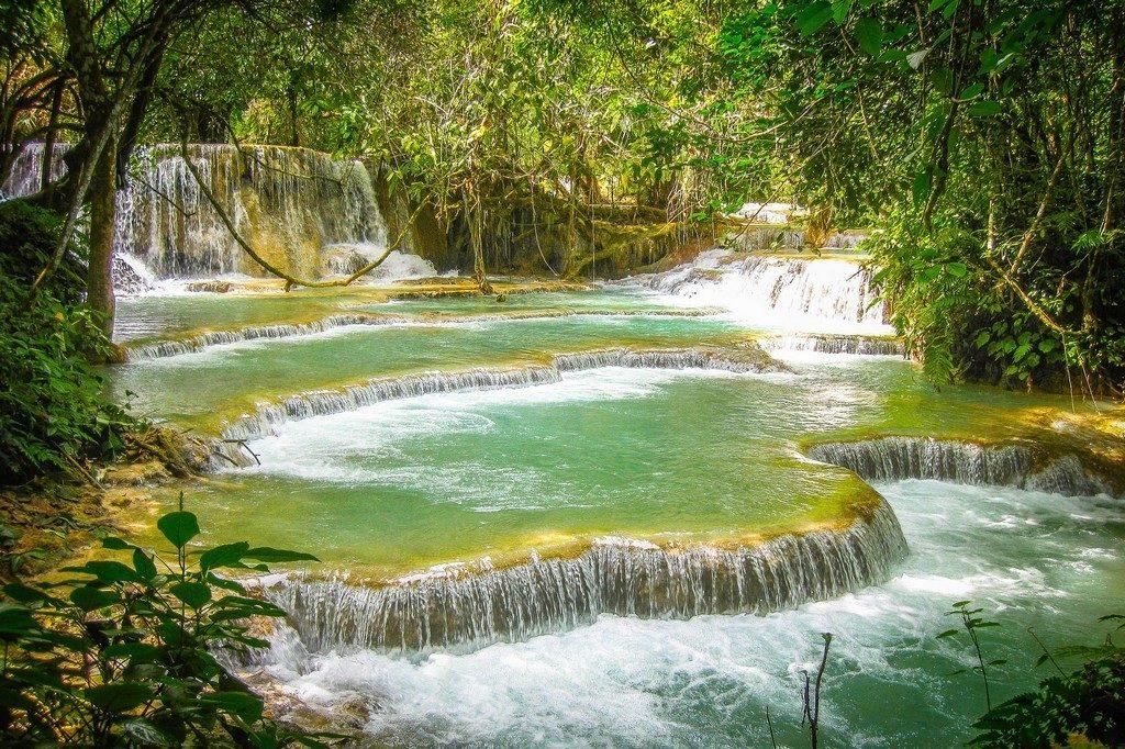 Les superbes chutes de Kuang Si et ses piscines