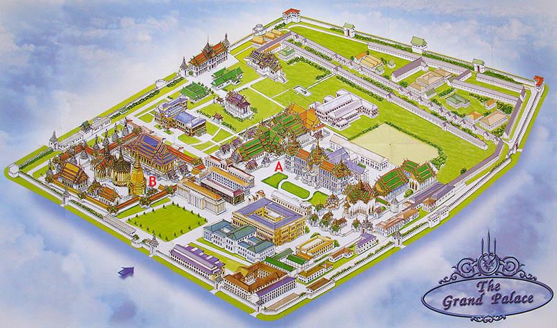 Plan du Grand Palais Royal Bang Kok