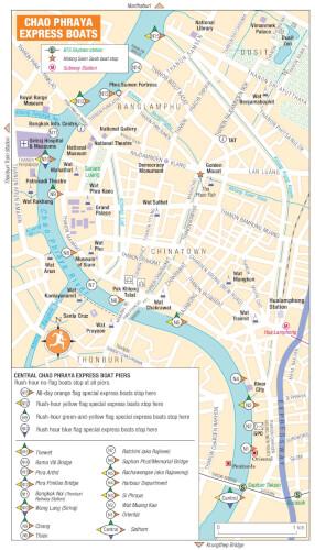 Carte Chao Phraya Express