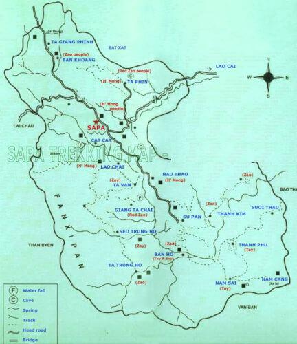 Location des villages Sapa