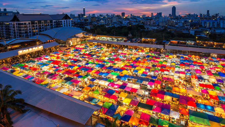 Marché Chatuchak , Bangkok, Thailande