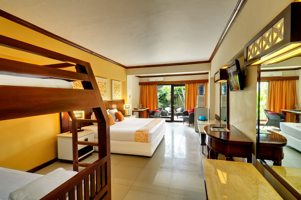 Bali Garden Beach Resort , Chambre familliale